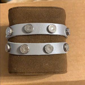 Silver Button wrap bracelet